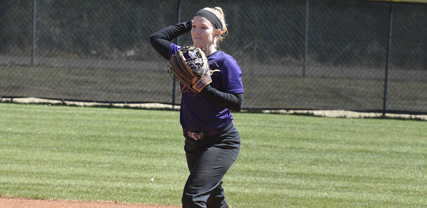 Hailey Ostrander fields and throws in a recent game.