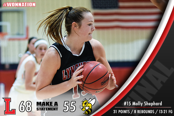 Women's Basketball Grinds Out Win Over Randolph-Macon, 68-55
