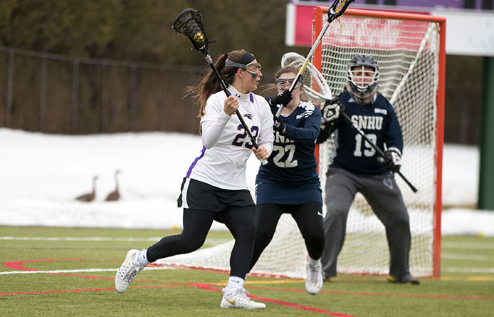 Women's lacrosse loses at No. 3 Le Moyne during NE10 action