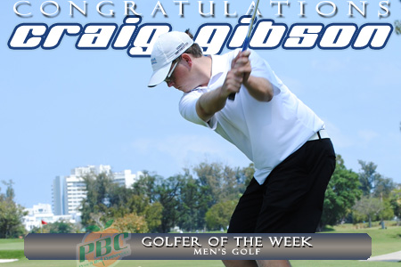 Gibson named PBC Golfer of the Week