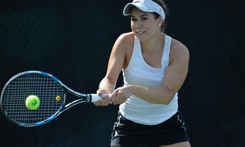 WOMEN'S TENNIS BATTLES FOR THIRD STRAIGHT WIN, 4-3, OVER MONTANA