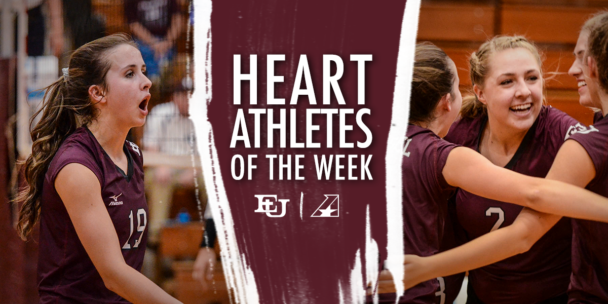 Fishback and Gahm Earn Heart Volleyball Players of the Week