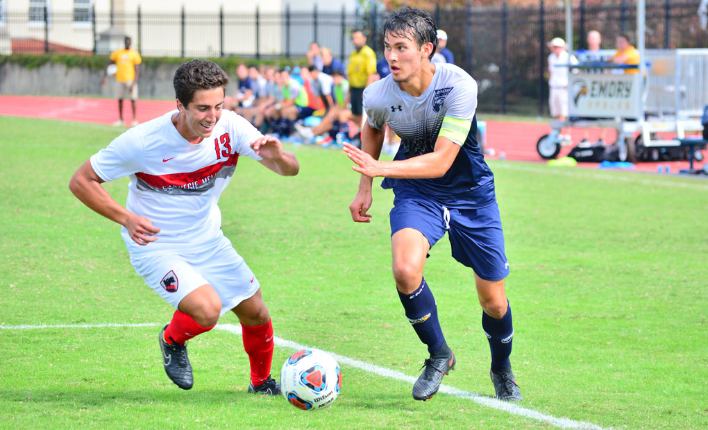 Emory Men's Soccer Continues Win Streak; Moves Into Sole Possession of First Place in UAA