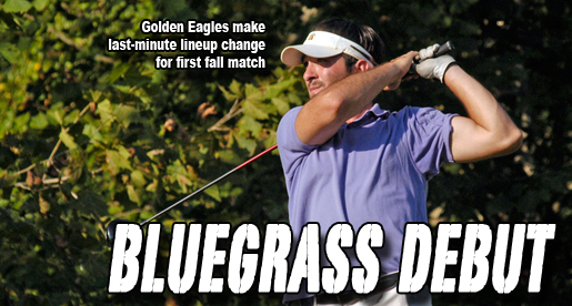 Griffin leads through two rounds, Golden Eagles eighth in first fall outing