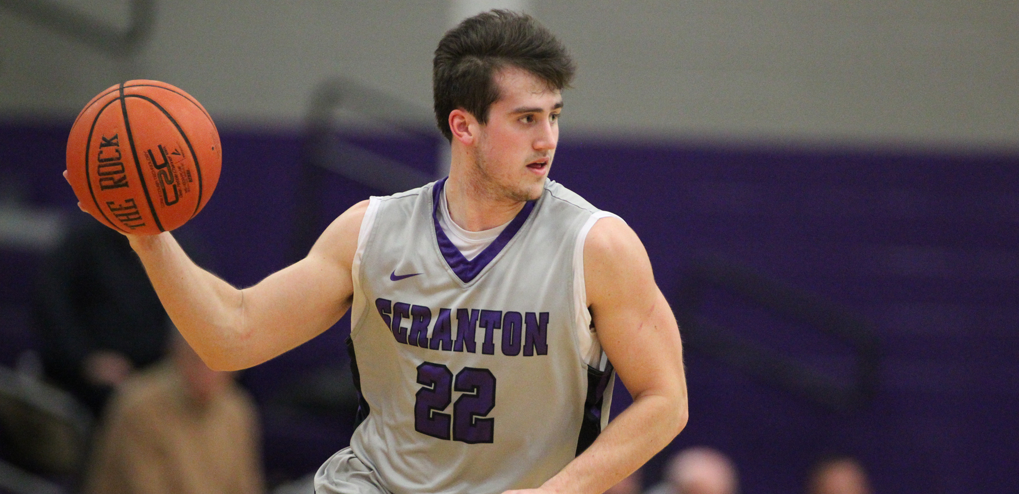 Junior Kyle DeVerna recorded 18 points, six rebounds, and three assists in Scranton's win over Drew on Wednesday night. © Photo by Timothy R. Dougherty / doubleeaglephotography.com