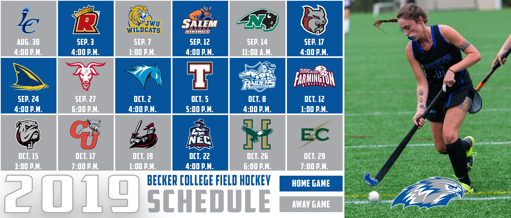 2019 Becker College Field Hockey Schedule
