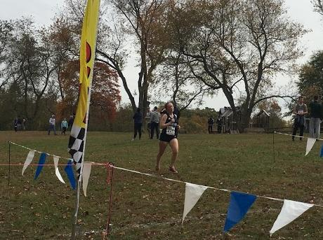 Women's Cross Country: Saugling and Beverly compete at Regions