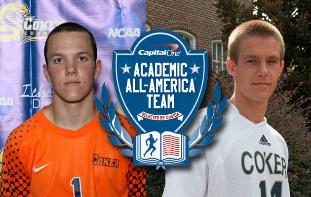 Coker's Sweeney and Staub Named to Capital One Academic All-Distirct Soccer Team
