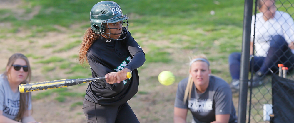 Pine Manor Softball Home Opener Results In A Split Decision vs UMPI