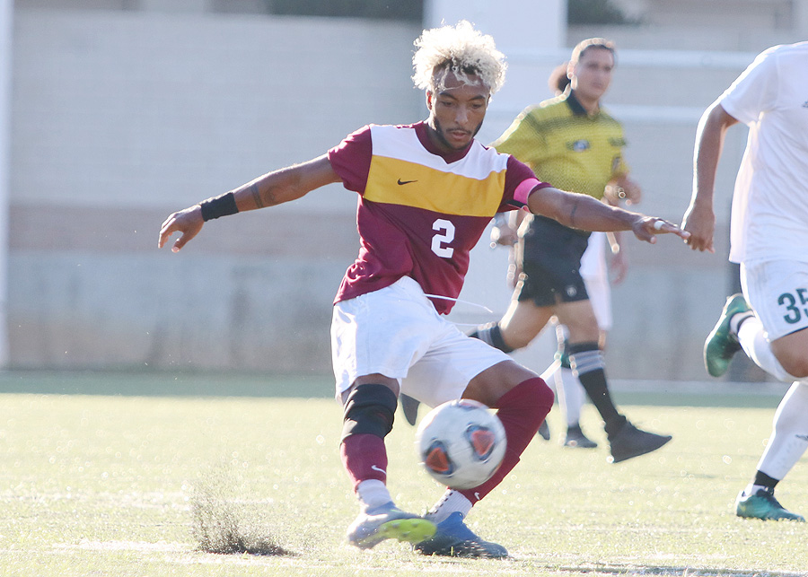 Bryce Watson in action earlier this season. He was in all three Lancers goals in Friday's 3-3 tie v. Mt. SAC.