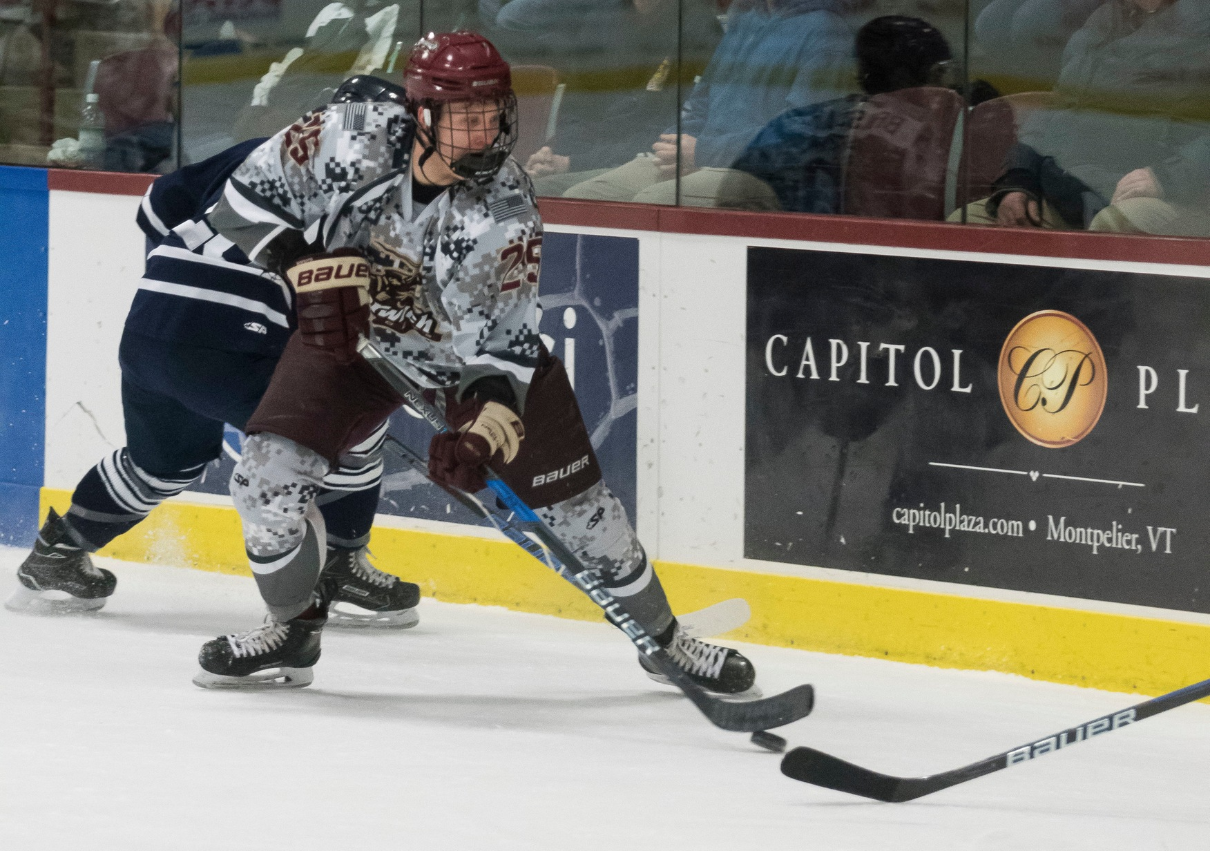 Men's Hockey: Cadets Top Huskies 2-1