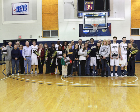 GU's five seniors and their families