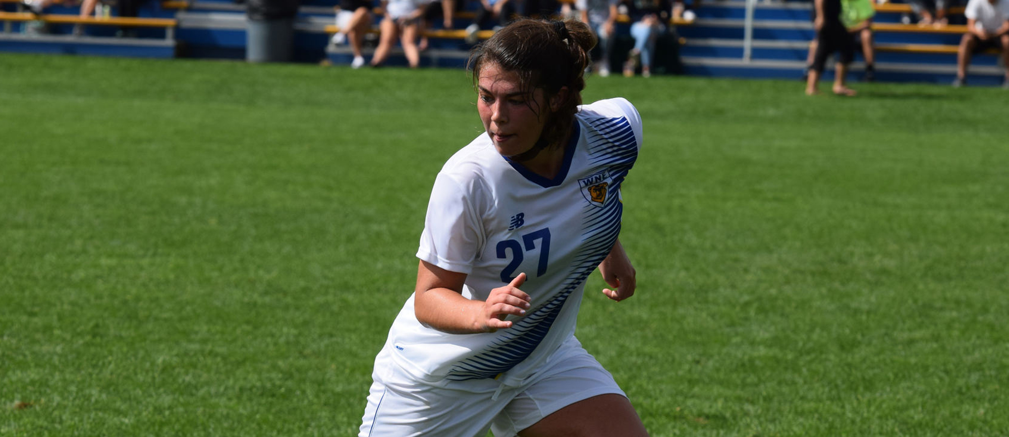 Sophomore Danielle Skates scored her first career goal in the 77th minute to cap Western New England's 3-2 comeback victory over Gordon on Saturday afternoon. (Photo by Rachael Margossian)