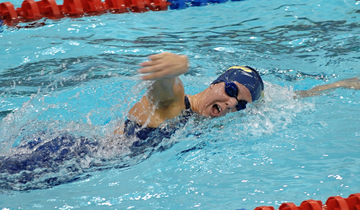 Women's Swimming & Diving Tops Wildcats for First Victory
