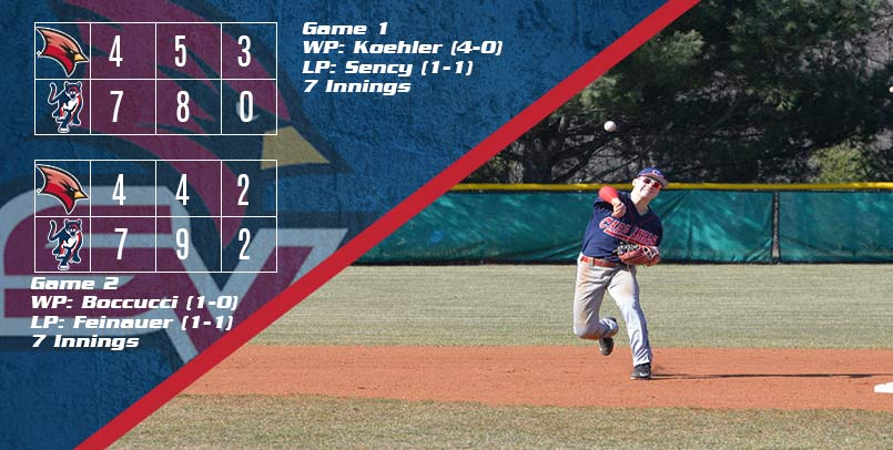 No. 13 Cougars Take Two From Cardinals in Baseball Action