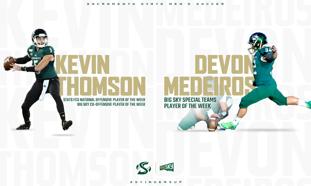 THOMSON, MEDEIROS NAMED PLAYERS OF THE WEEK