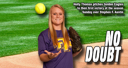 Thomas pitches Golden Eagles to season's first win