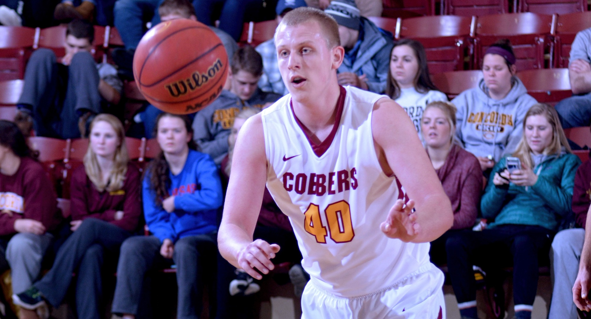 Cobber junior Austin Heins went 8-for-9 from the floor and finished with a game-high 17 points in Concordia's game at Augsburg.