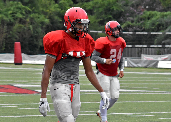 Huntingdon returns two senior starters in the secondary. First-team All-Conference selection Jarrett White (left) returns at cornerback and Charlie Jones (right) is back at safety.