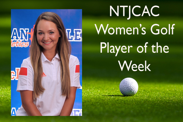 NTJCAC Women's Golf Player of the Week (Sept. 21-27)