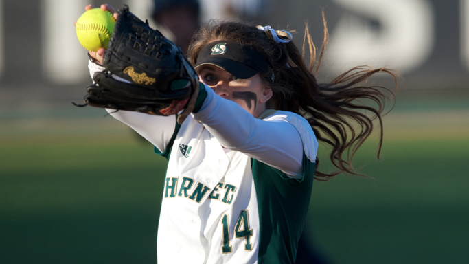 STROUD'S GEM LEADS SOFTBALL TO SPLIT IN SECOND DAY OF BRONCO CLASSIC