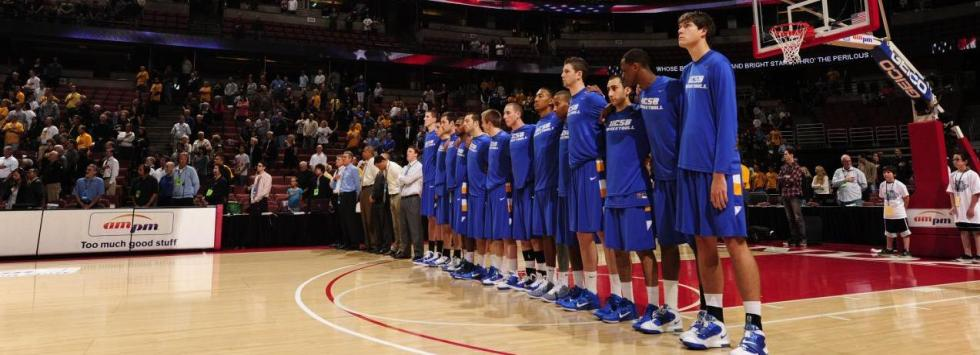 The Gauchos during The National Anthem