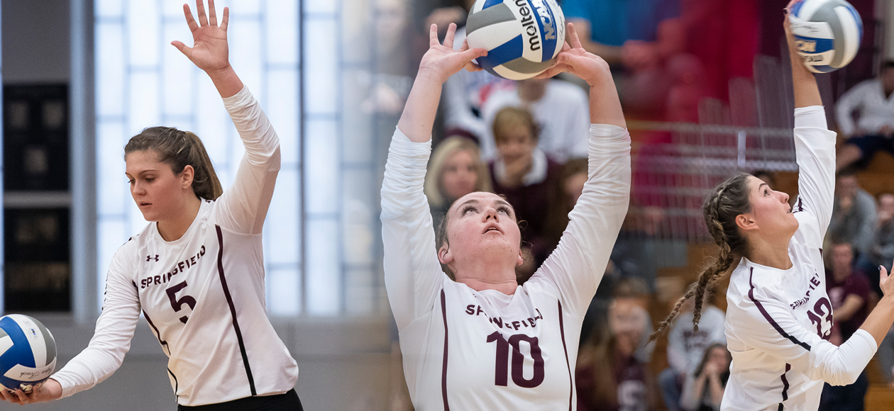 Three Women's Volleyball Student-Athletes Earn NEWVA Recognition