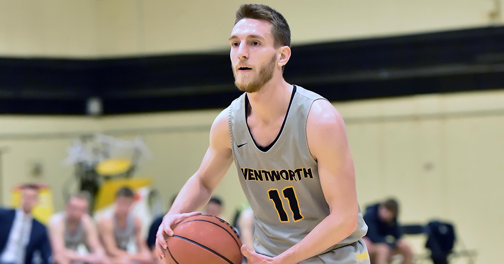 Strong Second Half Pushes Men's Basketball Past Framingham State