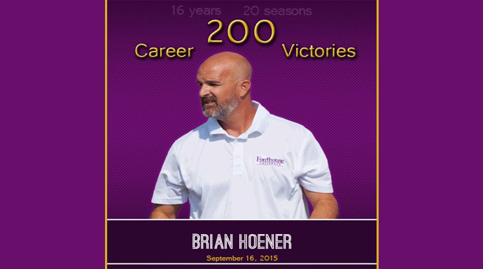 Fontbonne's Hoener Notches 200th Career Win