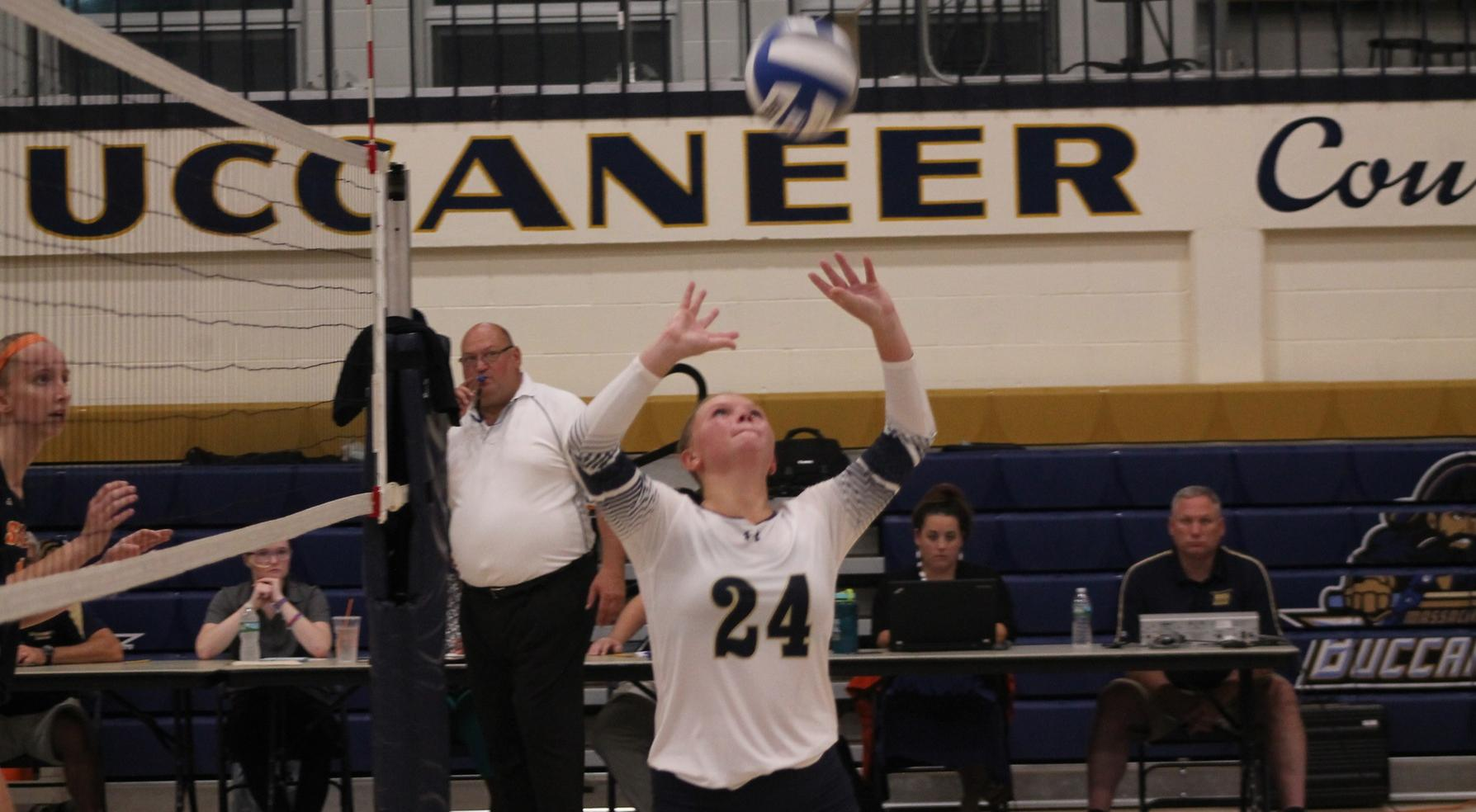 Buccaneer Volleyball Battles Dean In 5-Set Loss To Bulldogs