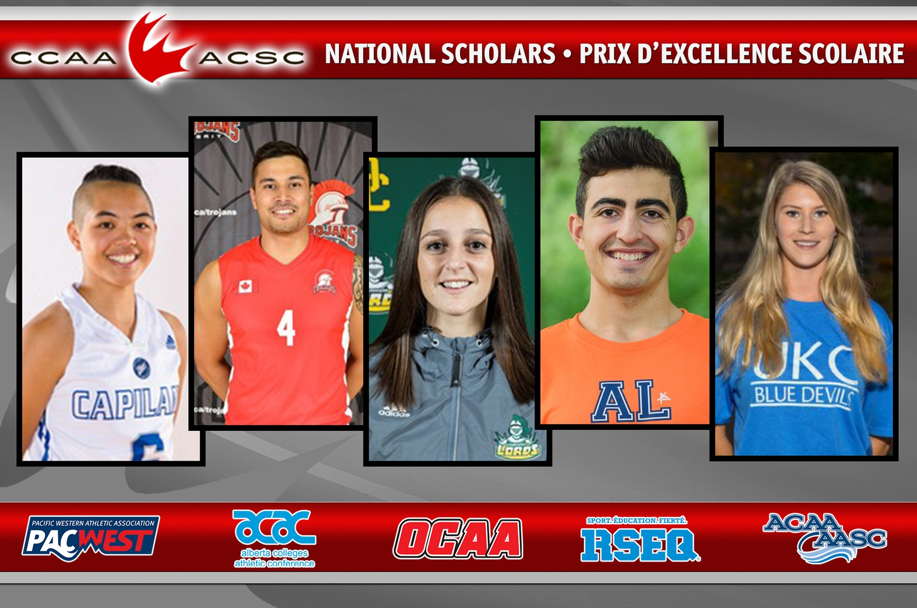 2016-17 CCAA National Scholar Award recipients