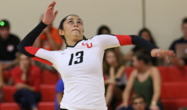 Volleyball Rolls Past Rams, 3-1