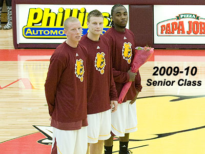 FSU seniors (left to right) Austin Randel, Jon Yeazel & Josh Young (FSU Photo Services)