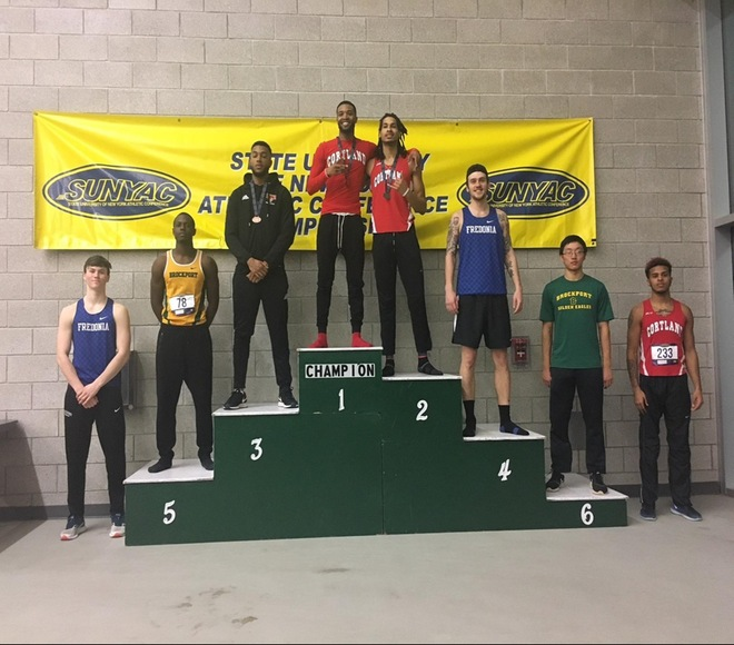SUNYAC Indoor Track and Field Championships; Day 1 Results