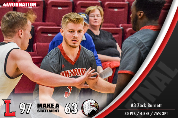 Men's Basketball Wins Big On The Road, Beat Eagles, 97-63