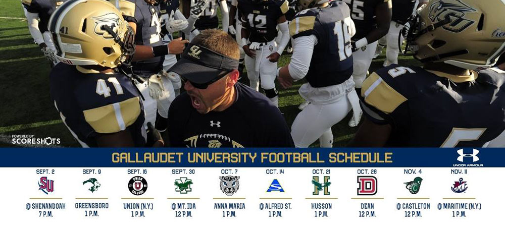 2017 Gallaudet University football schedule announced