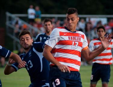 Men's soccer treks to King University