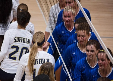 JWU Shutouts Volleyball at GNAC Tri-Match