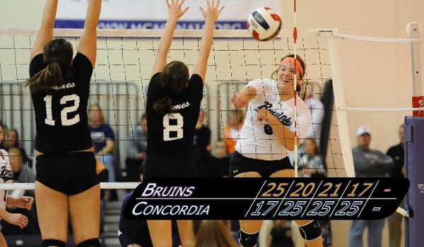Rachel Wald's 11 kills weren't enough in a tough road match with Concordia on Tuesday