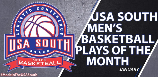 Men's Basketball: Michael McCauley's, Travis Thompson's dunks part of USA South January top plays