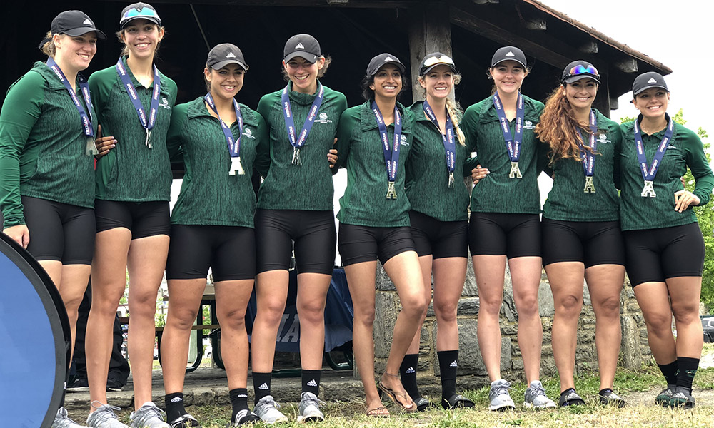 SECOND VARSITY EIGHT WINS SILVER; HORNETS FINISH FIFTH OVERALL AT AMERICAN ATHLETIC CONFERENCE CHAMPIONSHIP
