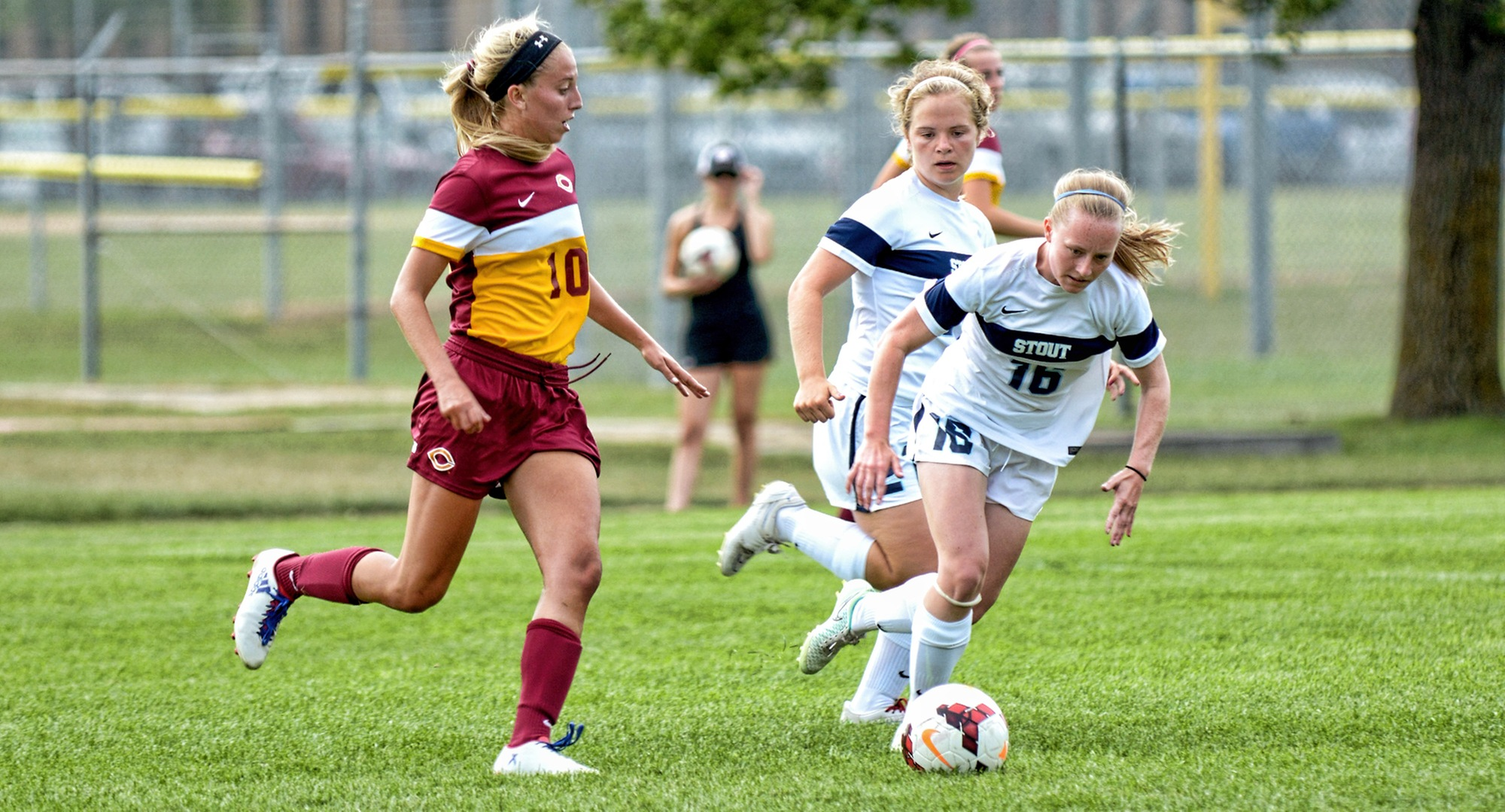 Senior Kayla Dostal led Concordia with two shots in the Cobbers' 0-0 2OT tie at Wis.-Stout.
