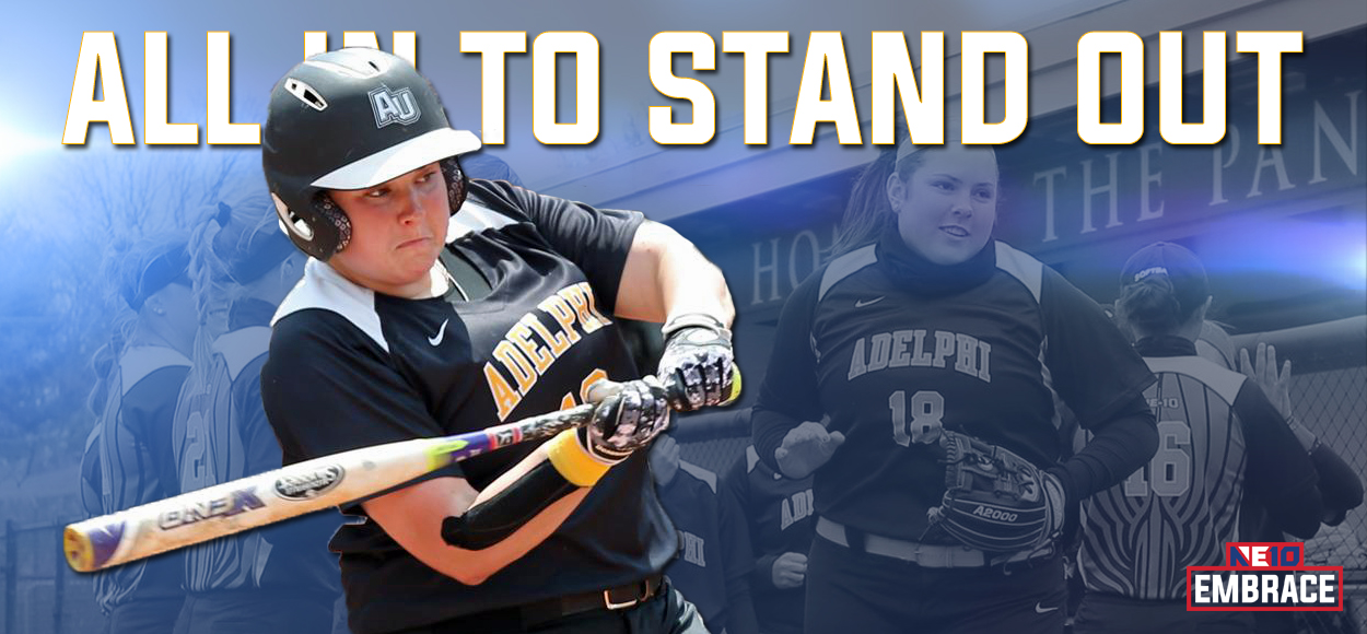 Adelphi's Martini Becomes First Player in League History to Earn NE10 Player of Year Three Times as Softball Awards are Announced
