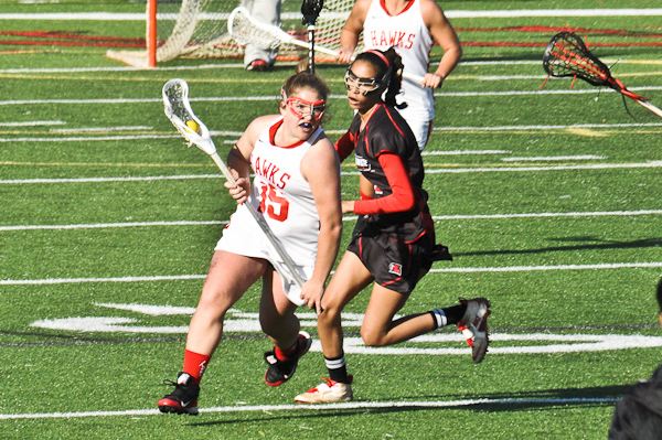 Gress' five goals lead Lady Hawks to second straight win