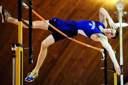 Litz Ups Indoor Pole Vault Record by 12 Inches