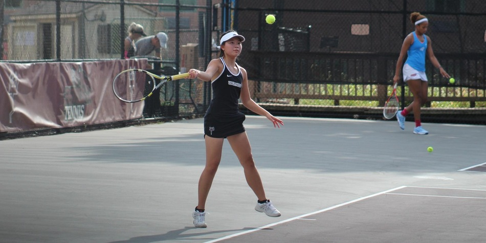 Women's Tennis Sweeps Holy Family in CACC Opener