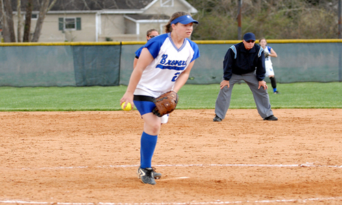 Sophomore hurler Jennifer Gift picked up both wins for the Tornados in the sweep.