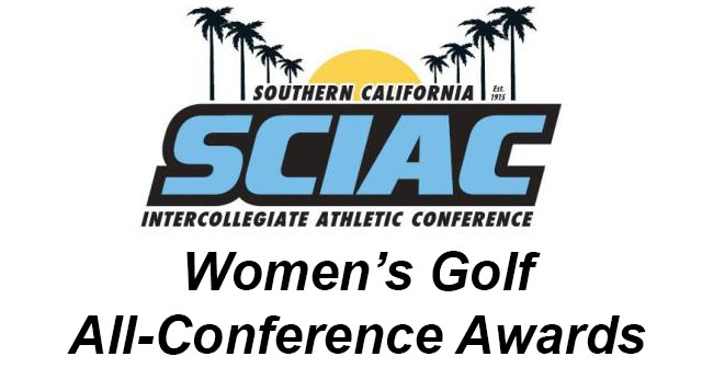 SCIAC Is Proud to Announce the Women's Golf All-Conference Awards