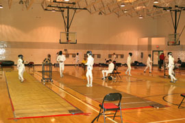 GAC Gym during the 2008 Pentathlon Camp Fencing Competition