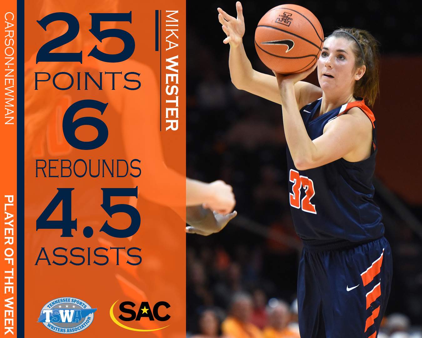 Wester cleans up weekly honors from SAC and TSWA